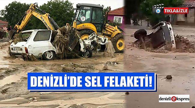 Denizli'de sel felaketi!