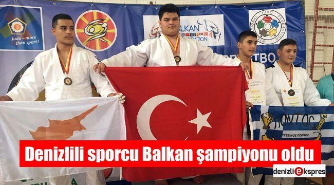 Denizlili sporcu Balkan şampiyonu oldu