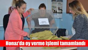 Honaz'da oy verme işlemi tamamlandı