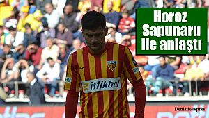 Horoz Sapunaru ile anlaştı