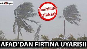 Afad'dan fırtına uyarısı!