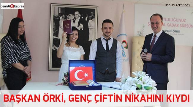 Başkan Örki, genç çiftin nikahını kıydı