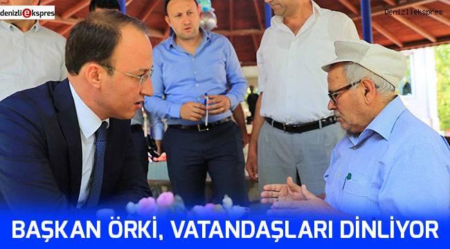 Başkan Örki, vatandaşları dinliyor