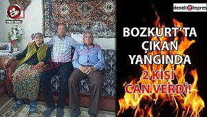 BOZKURT'TA ÇIKAN YANGINDA 2 KİŞİ CAN VERDİ