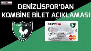 Denizlispor'dan kombine bilet açıklaması
