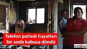 Gece uyurken çıkan yangın 4 çocuklu aileyi evsiz bıraktı