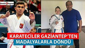 KARATECİLER GAZİANTEP'TEN MADALYALARLA DÖNDÜ