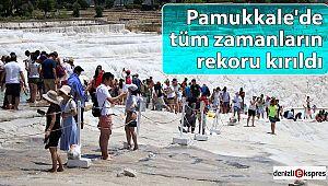 Pamukkale'de tüm zamanların rekoru kırıldı
