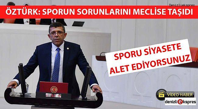 ''SPORU SİYASETE ALET EDİYORSUNUZ''