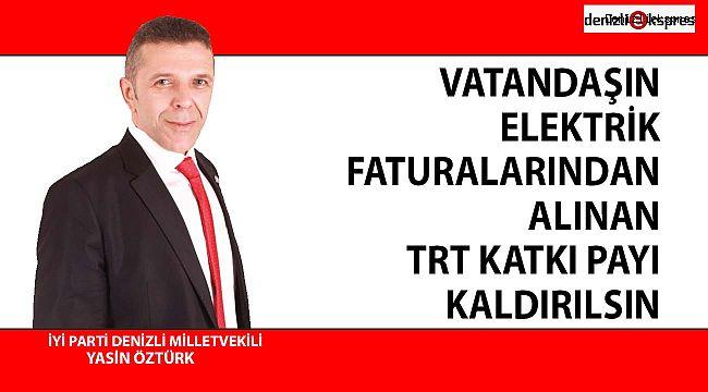 VATANDAŞIN ELEKTRİK FATURALARINDAN ALINAN TRT KATKI PAYI KALDIRILSIN