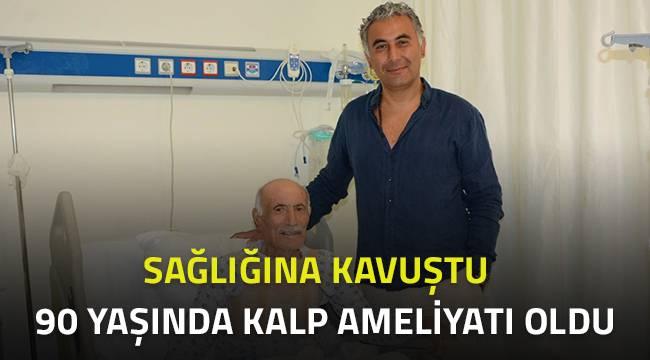 90 Yaşında kalp ameliyatı oldu, sağlığına kavuştu.