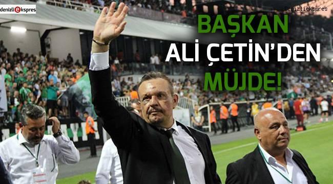 Ali Çetin'den transfer müjdesi