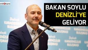 Bakan Soylu Denizli'ye geliyor