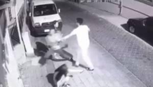 Kız çocuğunu kaçırmaya çalışan yabancı uyruklu şahsın kameralara yakalandı