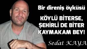 KÖYLÜ BİTERSE, ŞEHİRLİ DE BİTER KAYMAKAM BEY!