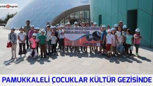 Pamukkaleli çocuklar Kültür Gezisinde