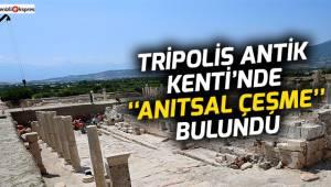 """Tripolis Antik Kenti'nde """"Anıtsal Çeşme"""" bulundu"""