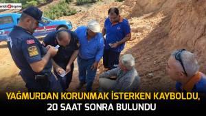 50 yaşındaki adam kaybolduktan 20 saat sonra bulundu
