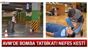 AVM'de bomba tatbikatı nefes kesti