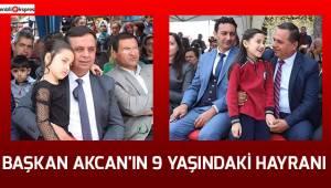 Başkan Akcan'ın 9 yaşındaki hayranı
