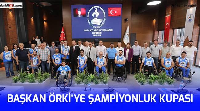 Başkan Örki'ye Şampiyonluk Kupası
