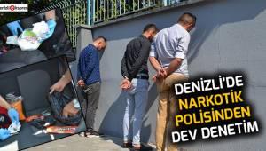 Denizli'de narkotik polisinden dev denetim