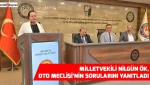 DTO Denizli Milletvekili Nilgün Ök'ü Ağırladı