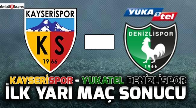 Kayserispor - Yukatel Denizlispor ilk yarı maç sonucu