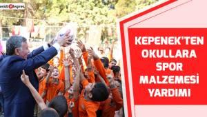 Kepenek'ten okullara spor malzemesi yardımı