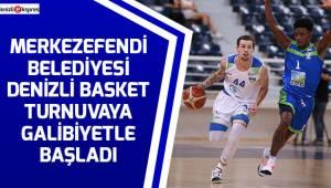 Merkezefendi Belediyesi Denizli Basket turnuvaya galibiyetle başladı