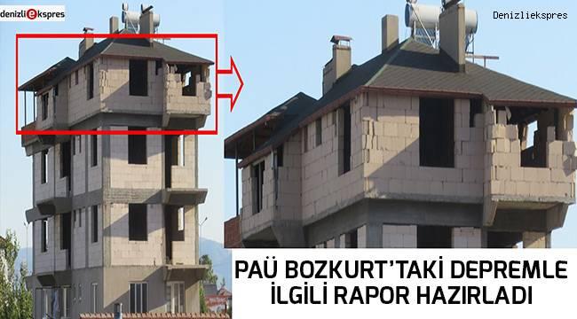 PAÜ Bozkurt'taki depremle ilgili rapor hazırladı