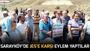 Sarayköy'de JES'e karşı eylem yaptılar