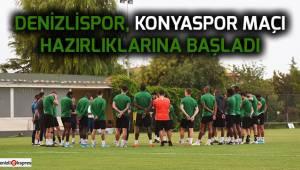 Yukatel Denizlispor, Konyaspor maçı hazırlıklarına başladı