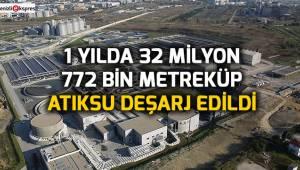 1 yılda 32 milyon 772 bin metreküp atıksu deşarj edildi