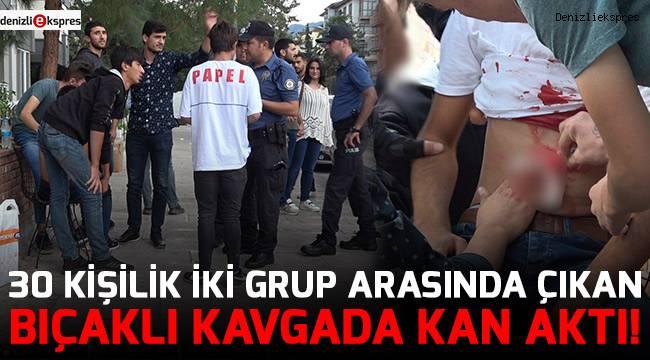30 kişilik iki grup arasında çıkan bıçaklı kavgada kan aktı!