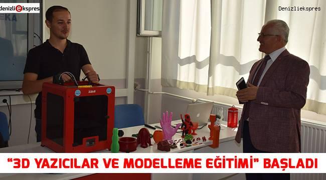 """""""3D Yazıcılar ve Modelleme Eğitimi"""" Başladı"""