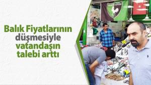 Balık fiyatlarının düşmesiyle vatandaşın talebi arttı