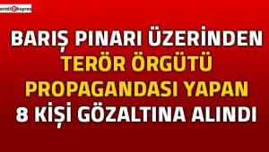 Barış Pınarı üzerinden terör örgütü propagandası yapanlara operasyon!