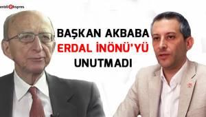 Başkan Akbaba, Erdal İnönü'yü unutmadı
