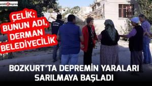BOZKURT'TA DEPREMİN YARALARI SARILMAYA BAŞLADI