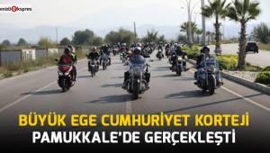 Büyük Ege Cumhuriyet Korteji Pamukkale'de gerçekleştirildi