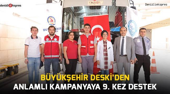 Büyükşehir DESKİ'den anlamlı kampanyaya 9. kez destek