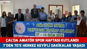Çal'da Amatör Spor Haftası kutlandı