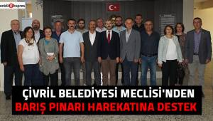 ÇİVRİL BELEDİYESİ MECLİSİ'NDEN BARIŞ PINARI HAREKATINA DESTEK