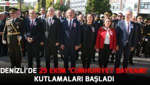 Denizli'de 29 Ekim 'Cumhuriyet Bayramı' kutlamaları başladı