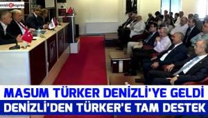 DENİZLİ'DEN TÜRKER'E TAM DESTEK
