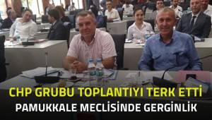 Pamukkale Belediye Meclis toplantısında gerginlik