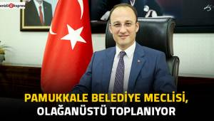 Pamukkale Belediye Meclisi, olağanüstü toplanıyor