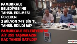 Pamukkale Belediyesi'ne ait 255 taşınmazın kaç tanesi satıldı?