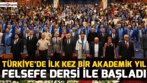 Türkiye'de ilk kez bir akademik yıl felsefe dersi ile başladı
